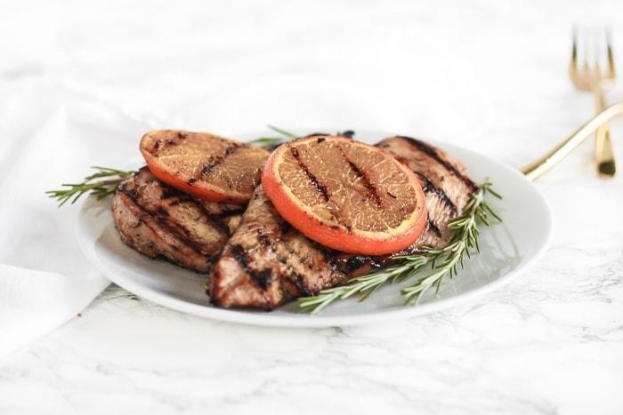 Easy Rosemary Orange Grilled Chicken