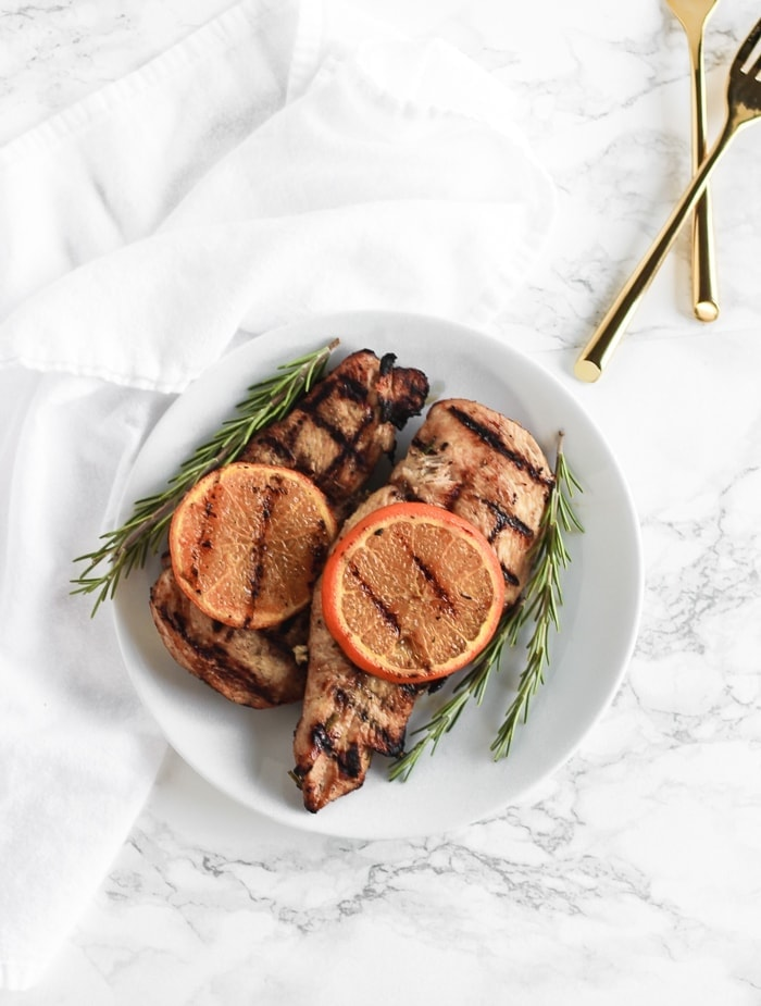 easy rosemary orange grilled chicken