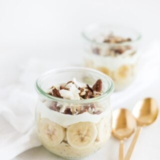 banana coconut breakfast pudding