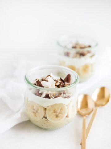 banana coconut breakfast pudding