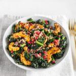 wild rice delicata squash kale salad
