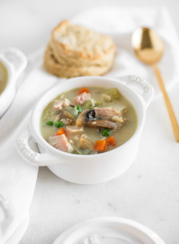 Healthy Chicken or Turkey Pot Pie Soup