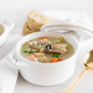 Healthy Chicken or Turkey Pot Pie Soup