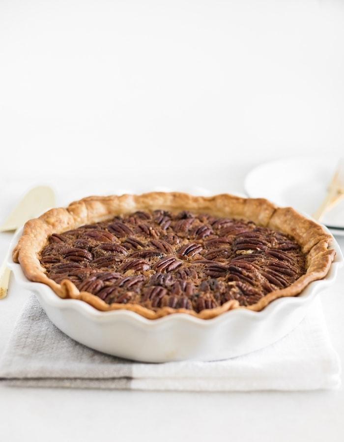 chocolate bourbon pecan pie recipe without corn syrup