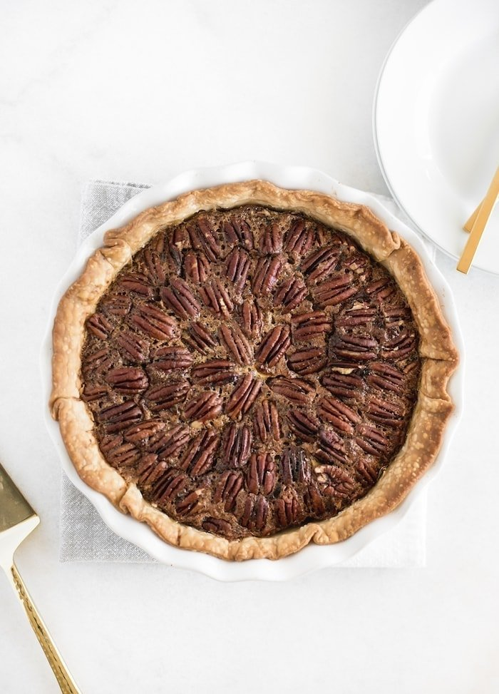 chocolate bourbon pecan pie recipe without corn syrup