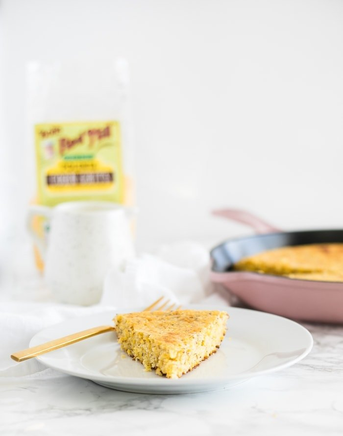 gluten-free cornbread made with polenta and no xantham gum