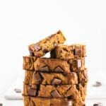 one-bowl healthy chocolate chunk banana pumpkin bread