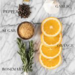 pinterest image with ingredients for a turkey brine