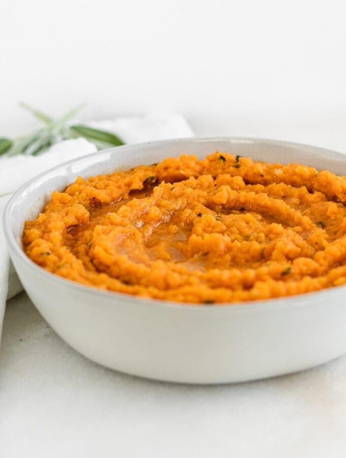 brown butter sage sweet potato mash