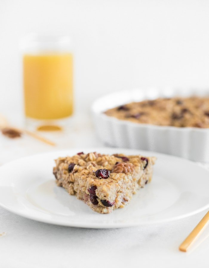 cranberry orange baked oatmeal