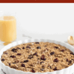 Start your morning strong with cranberry orange baked oatmeal! It's an easy make ahead breakfast that will fill you up and keep your immune system healthy throughout cold and flu season. (#glutenfree, #vegetarian, #noaddedsugar) AD #breakfast #makeahead #oatmeal #mealprep #recipes #FLOJ #AmazingInside