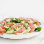 grapefruit avocado salad with fennel and mint