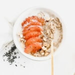 earl grey oatmeal with honey broiled grapefruit