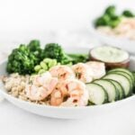 meal prep shrimp green goddess grain bowls