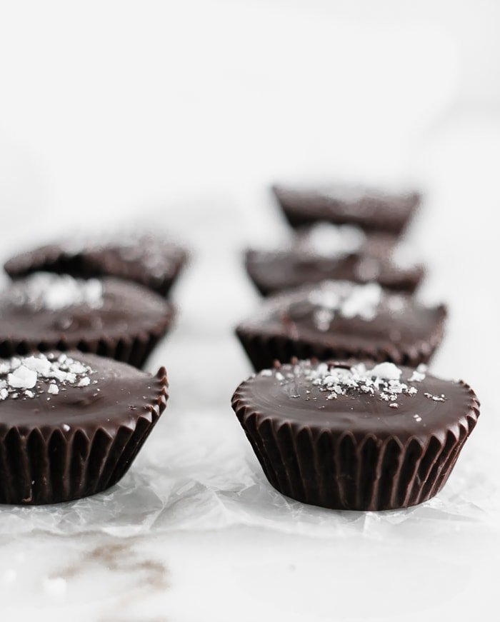 dark chocolate tahini cups