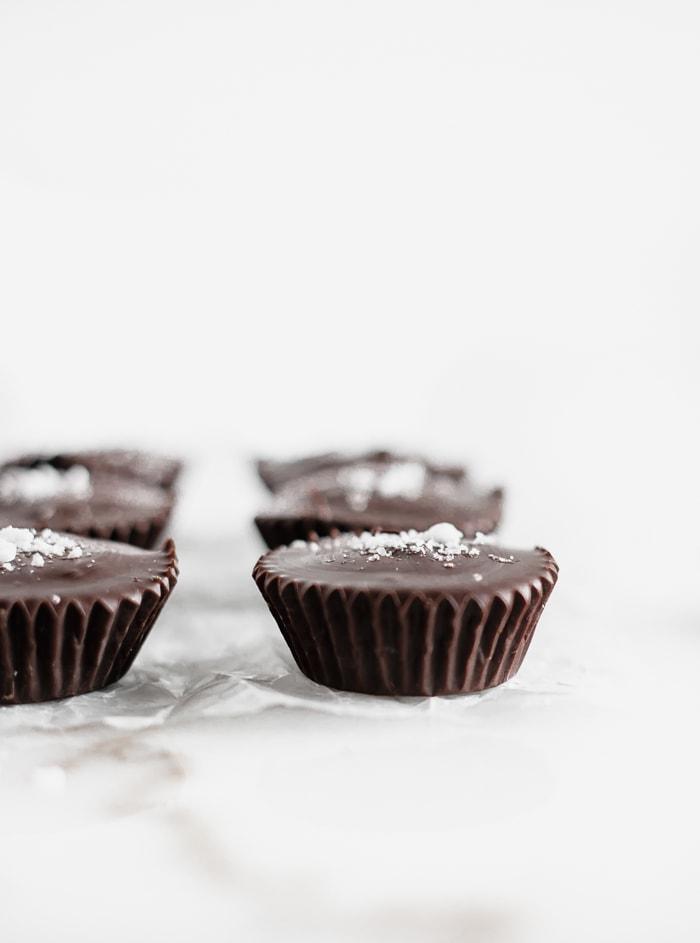 dark chocolate tahini cups