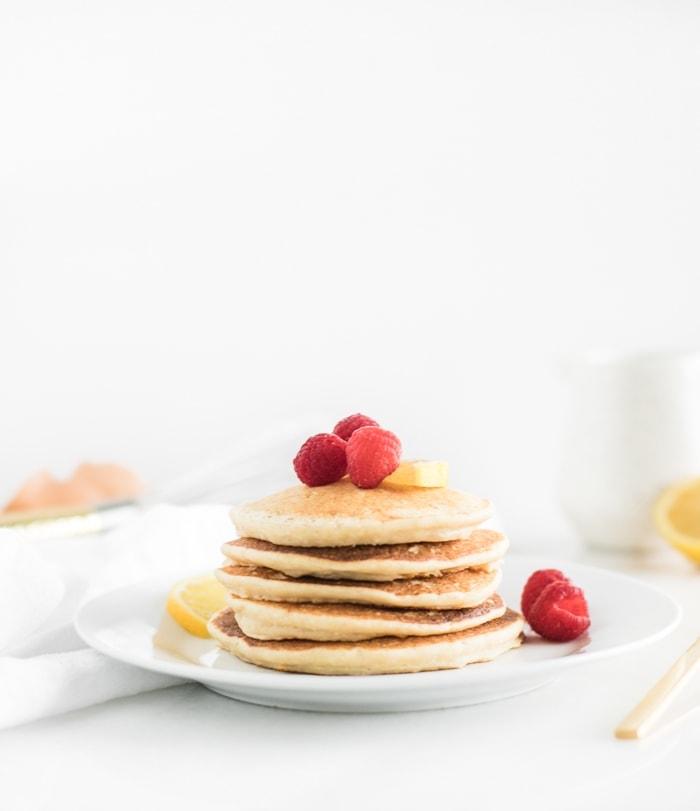 healthy lemon ricotta pancakes