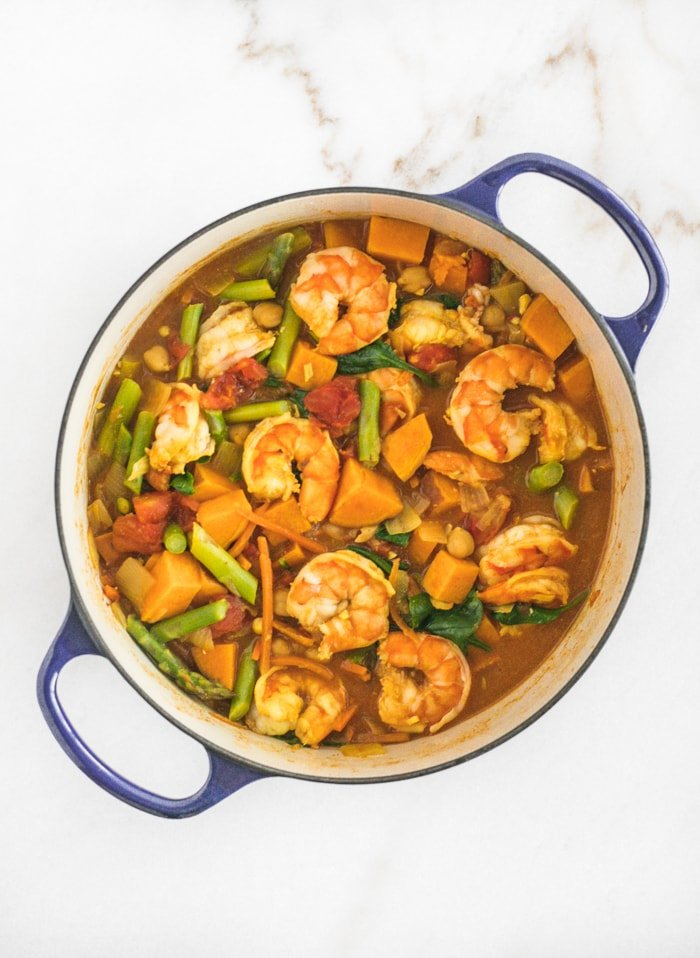 shrimp sweet potato curry