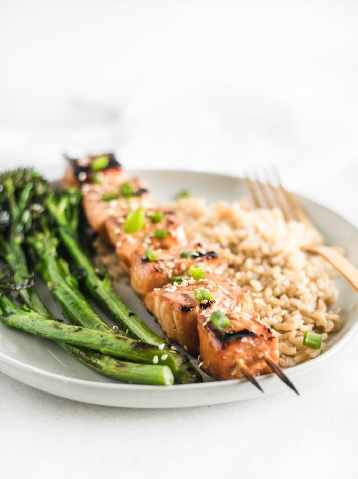 asian grilled salmon kabobs