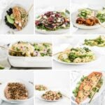 collage image featuring 8 meals with 7 ingredients or less.