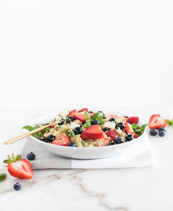 Red White and Blue Berry Quinoa Salad