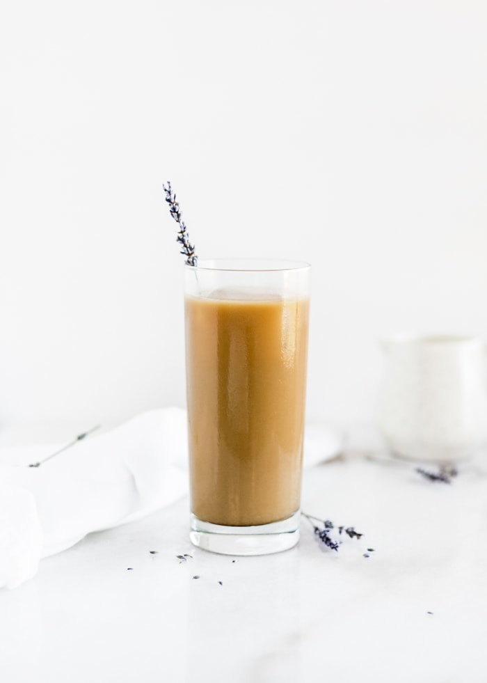 lavender cold brew latte