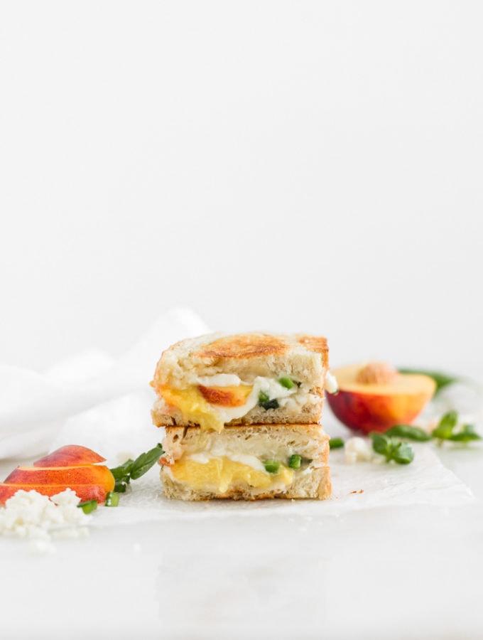 nectarine jalapeno grilled cheese