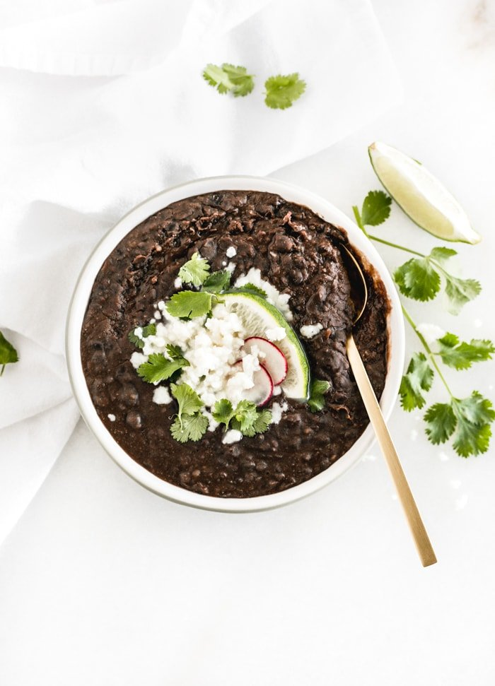 The Easiest Refried Black Beans Recipe