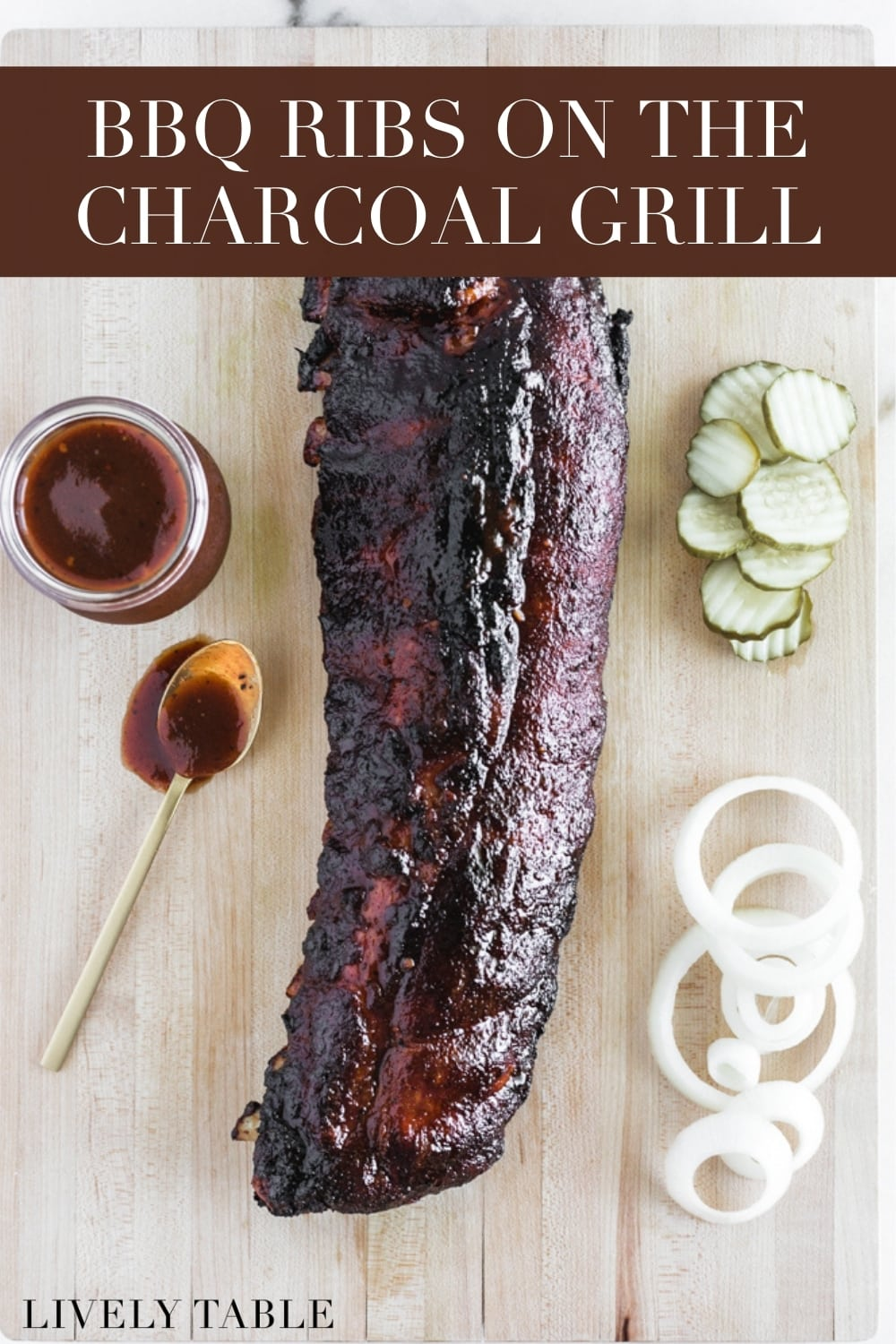 Nothing says summer like grilled BBQ ribs! These baby back ribs on the charcoal grill are simple, delicious, and sure to please a crowd! (#glutenfree, #dairyfree, #nutfree) #ribs #bbq #barbecue #texasbbq #babybackribs #summer #grilling #recipes