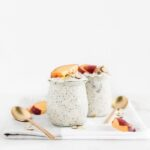 almond peach overnight oats