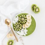 pineapple kiwi green smoothie bowl