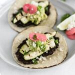 charred zucchini black bean tacos