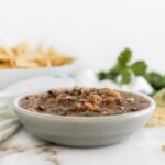 grilled salsa in bowl