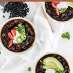 Pinterest image for instant pot mexican black bean soup