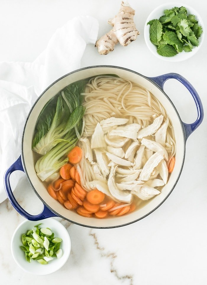 Ginger Lemongrass Chicken Noodle Soup Lively Table