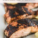 pinterest image for easy blackened salmon