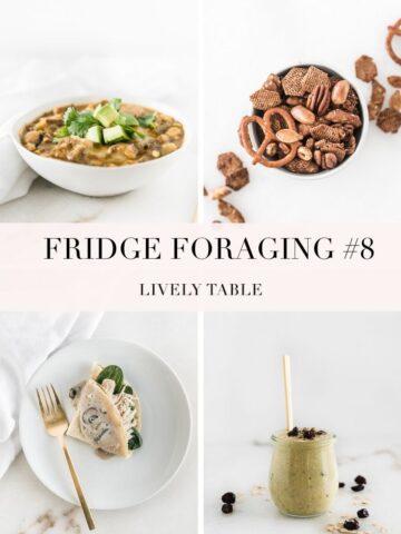 pinterest collage image for fridge foraging 8