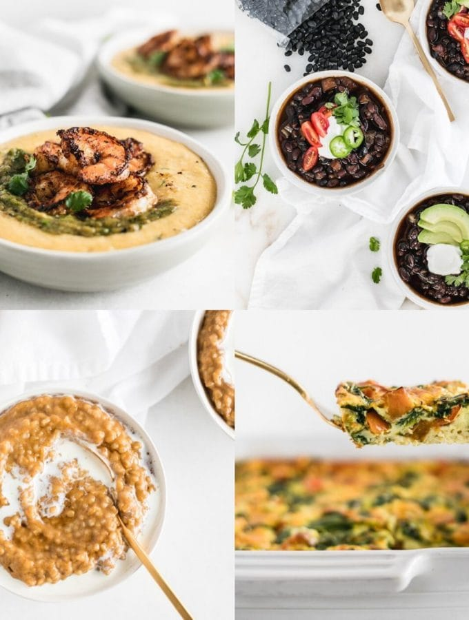 image collage for healthy pantry meals