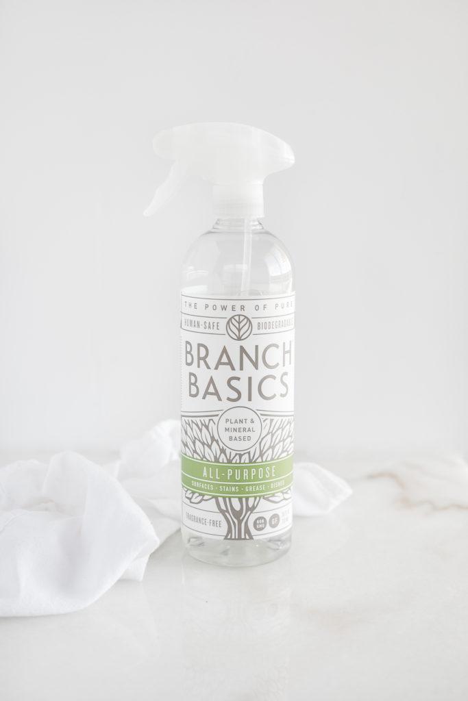 bottle of branch basics all purpose cleaner.