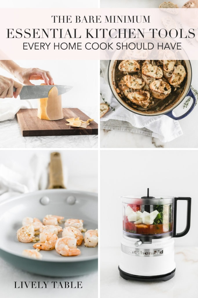 pinterest image for essential kitchen tools.