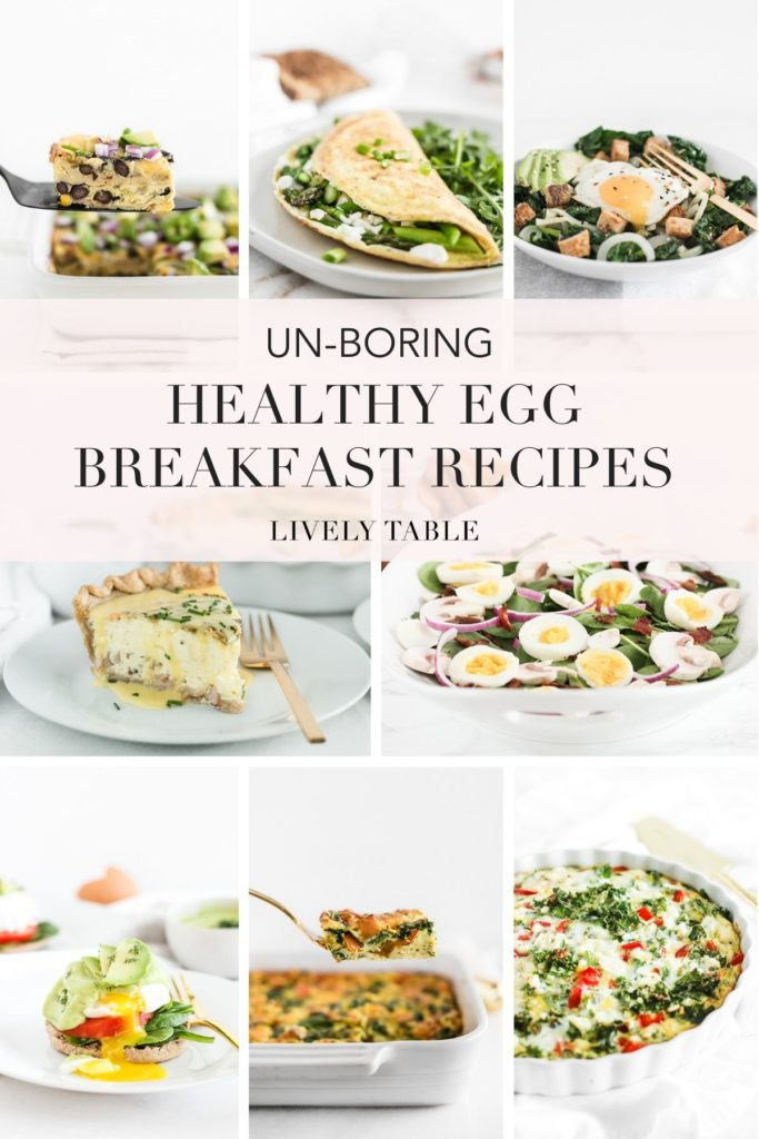 pinterest collage image for healthy egg recipes.