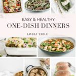 pinterest collage image for one dish meals.