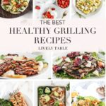 pinterest collage image for healthy grilling recipes.