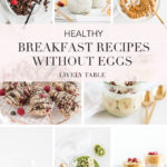 Pinterest image for healthy breakfast recipes without eggs.
