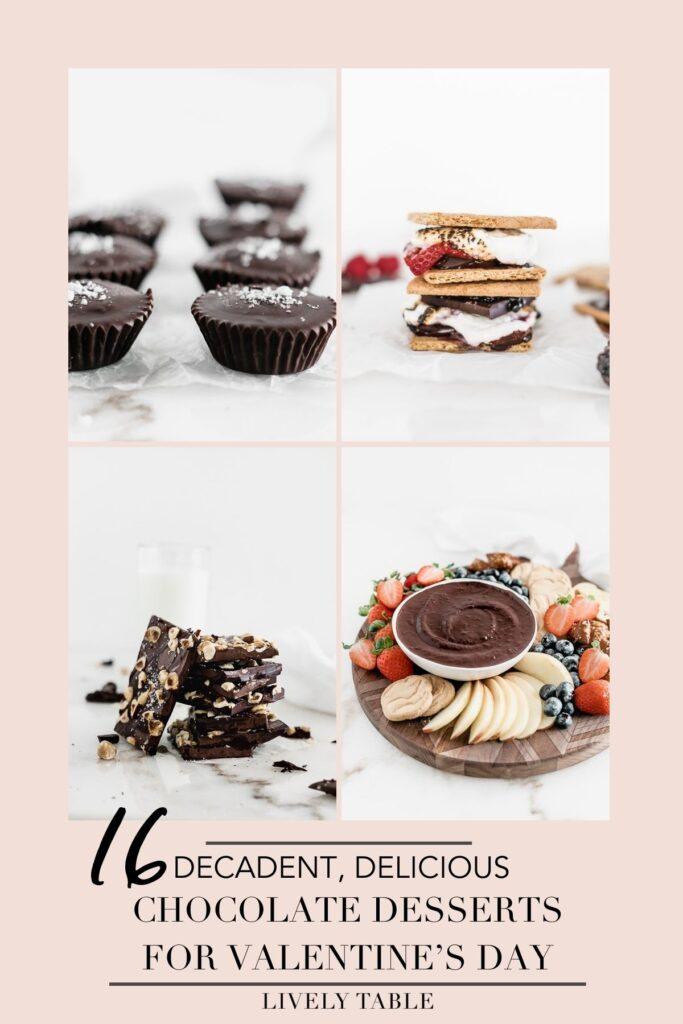 No Valentine's Day is complete without chocolate! Celebrate the day of love with your significant other, your girlfriends, your kids, or yourself with these decadent, delicious chocolate desserts for Valentine's Day!